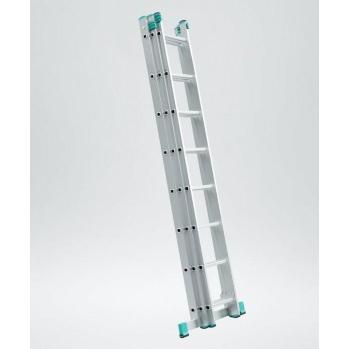 Алуминиева сертифицирана стълба 3 рамена х 8 стъпала