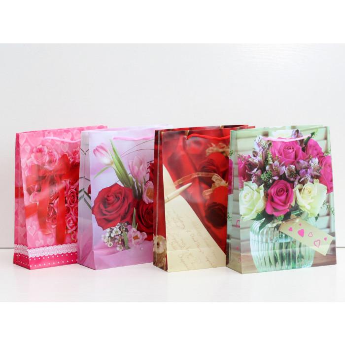 Плик за подаръци цветя 24х18х7.5С2-839