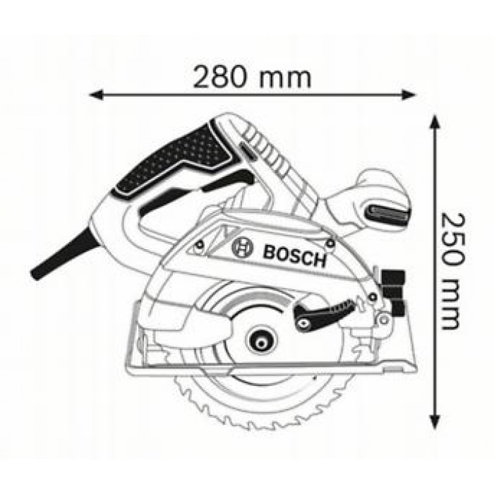 Ръчен циркуляр Bosch GKS 165 Professional 1100 W