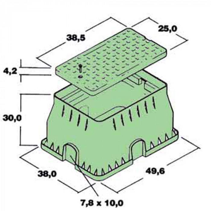 Кутия за електромагнитен клапан тип STANDARD квадратна