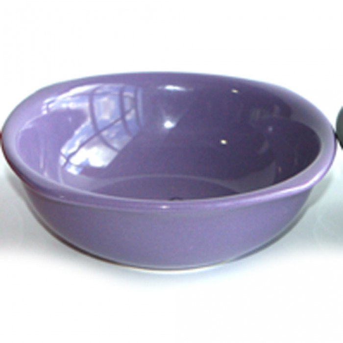 Керамична квадратна купа 16см лилава
