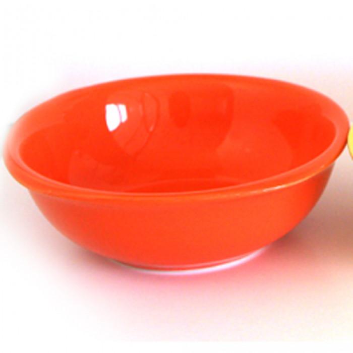 Керамична квадратна купа 25см оранжево