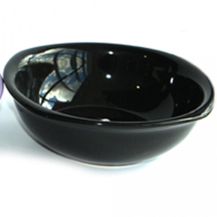 Керамична квадратна купа 25см черна