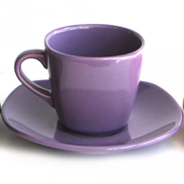 Керамичен чаен сервиз  6бр. Лилав