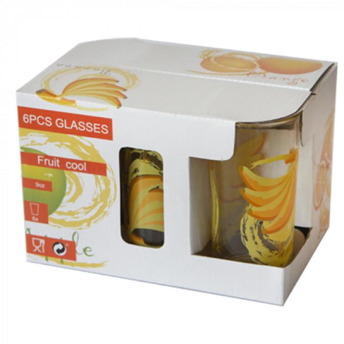 Чаши високи декор-6бр.Frg018-w901 банан