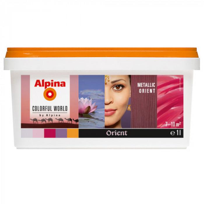 Латекс алпина колорфул уърлд металик ориент оцветен  1 л / Alpina colorful world metallic orient 1lt