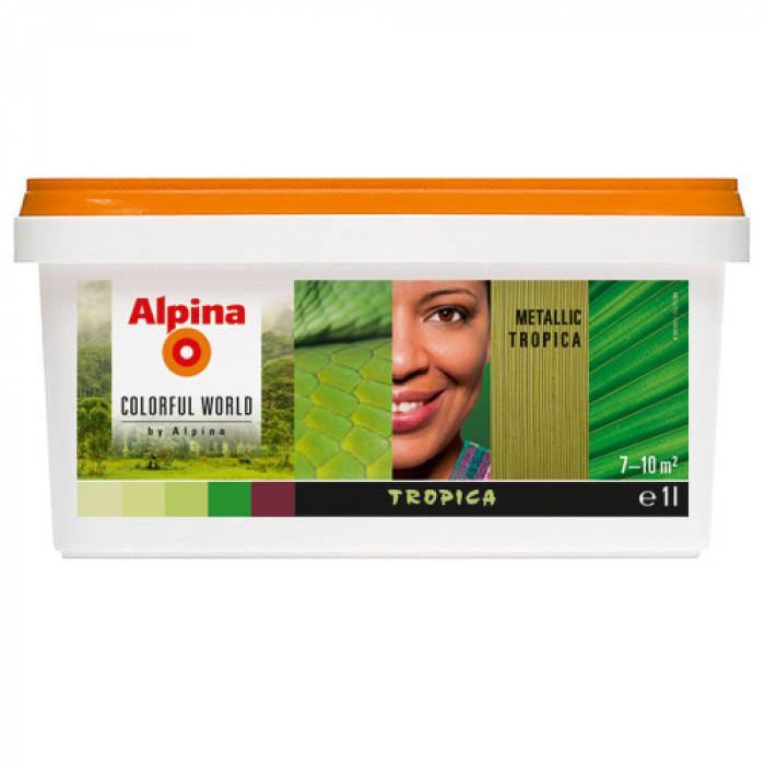 Латекс алпина колорфул уърлд металик тропика оцветен  1 л / Alpina colorful world metallic tropica 1lt