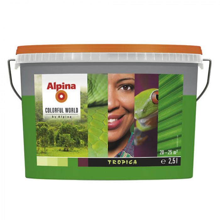 Латекс алпина колорфул уърлд  рич тропика оцветен 2.5 л / Alpina colorful world rm rich tropica 2.5 lt