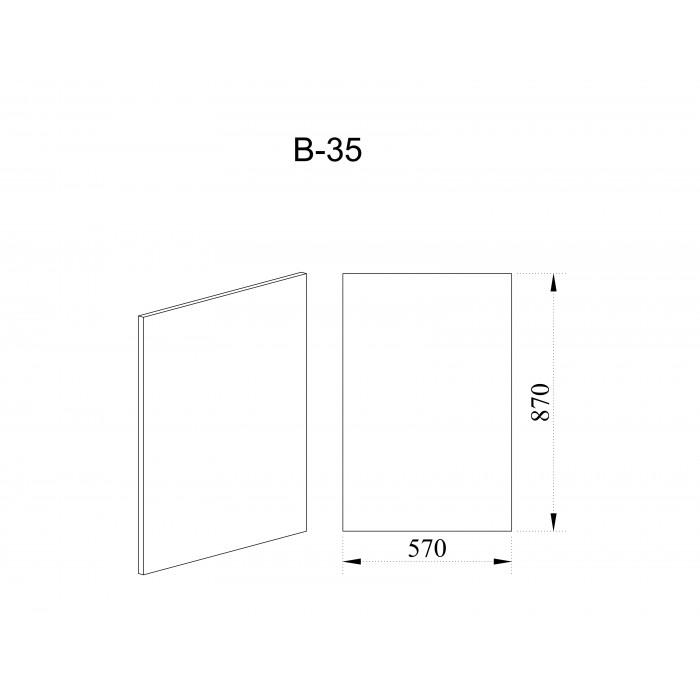 Краен панел за шкафове City В-35