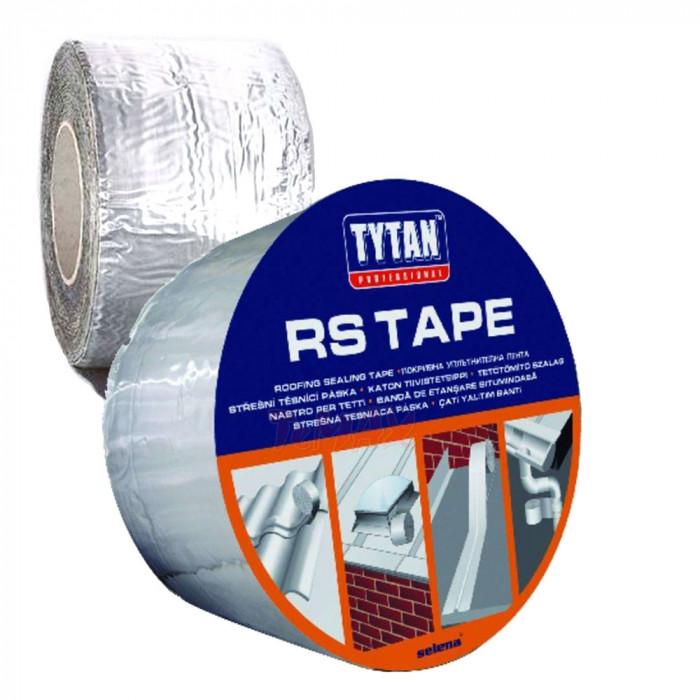 Покривна битумна лента с алуминиево покритие TYTAN 300мм/10м, червена