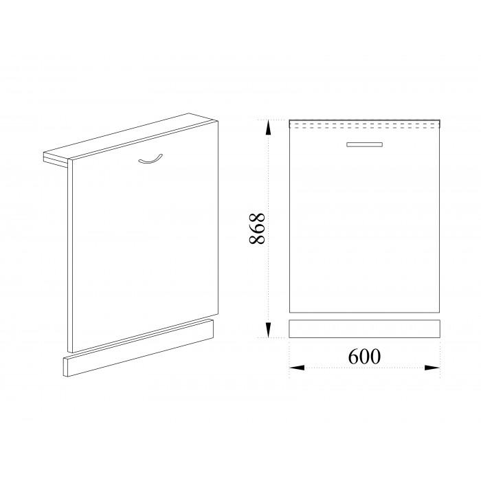 Врата за вградена съдомиялна City ВД-139