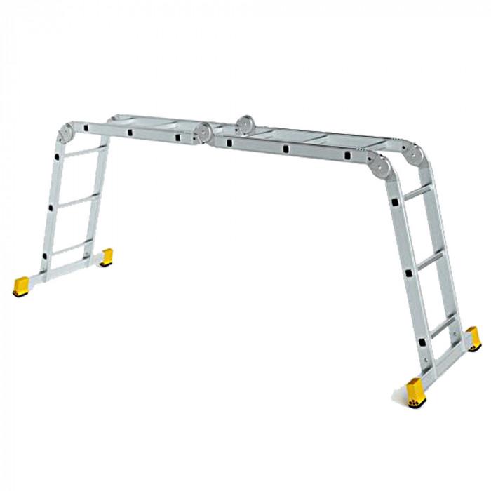 Шарнирна алуминиева стълба Forte 4 рамена с по 3 стъпала