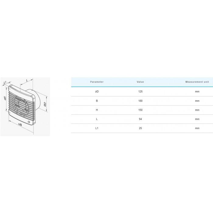 Вентилатор Vents 125M / 16W