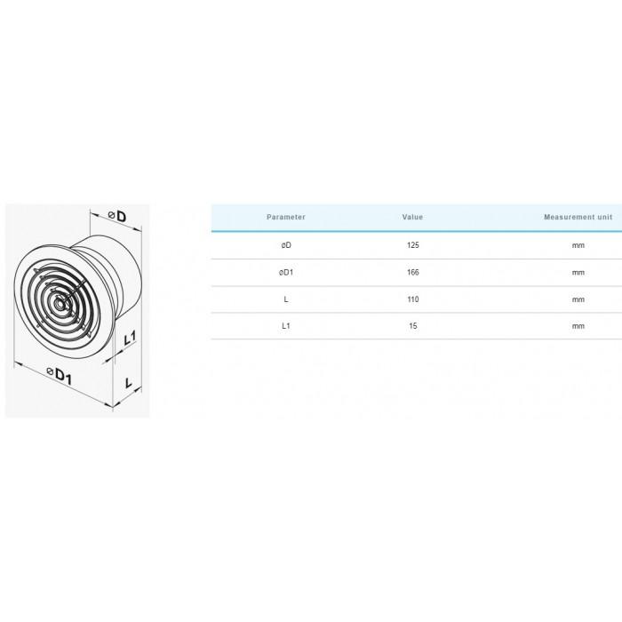 Вентилатор Vents 125PF / 16W
