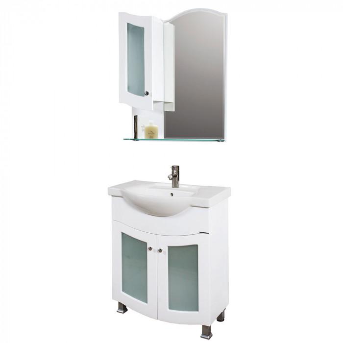 Горен PVC шкаф за баня с огледало Макена Калифорния