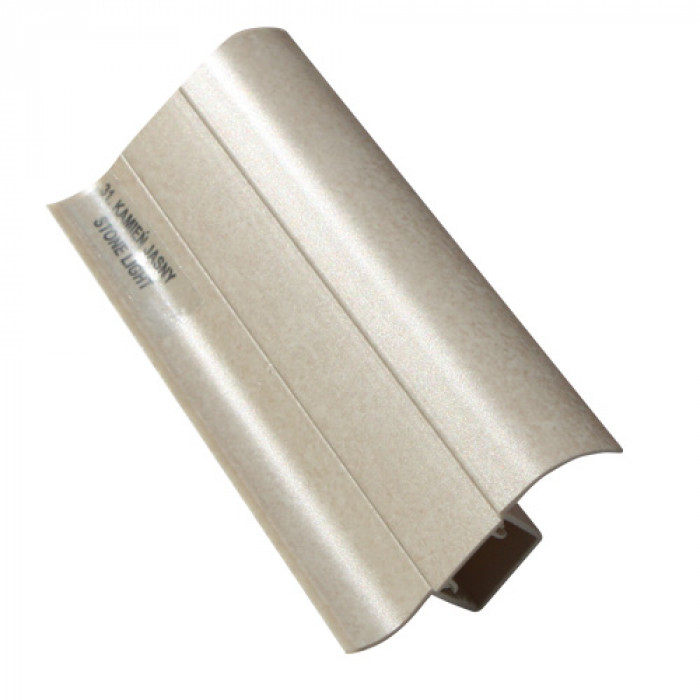 PVC перваз с кабел канал Salag SG56/31 светъл камък