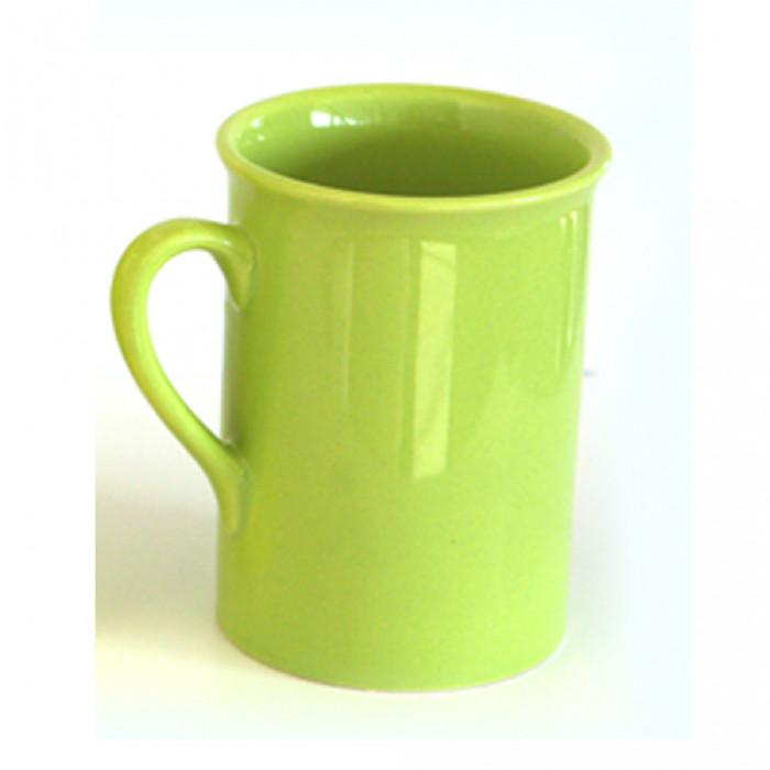 Чаша керамична  с дръжка зелена