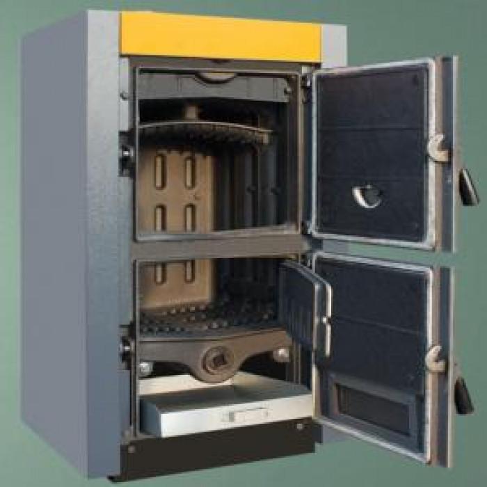 Чугунен двуходов секционен котел на твърдо гориво THOR 5 - 5 секции 31 - 35 kw