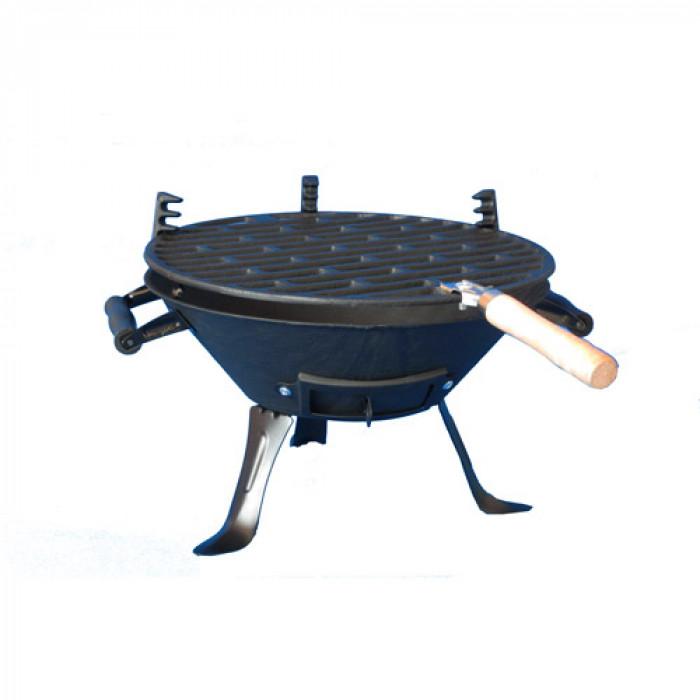 Чугунено барбекю за дървени въглища