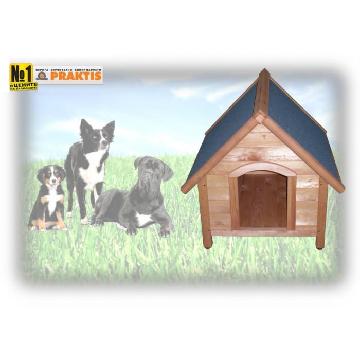 Дървена колиба за куче - размер M