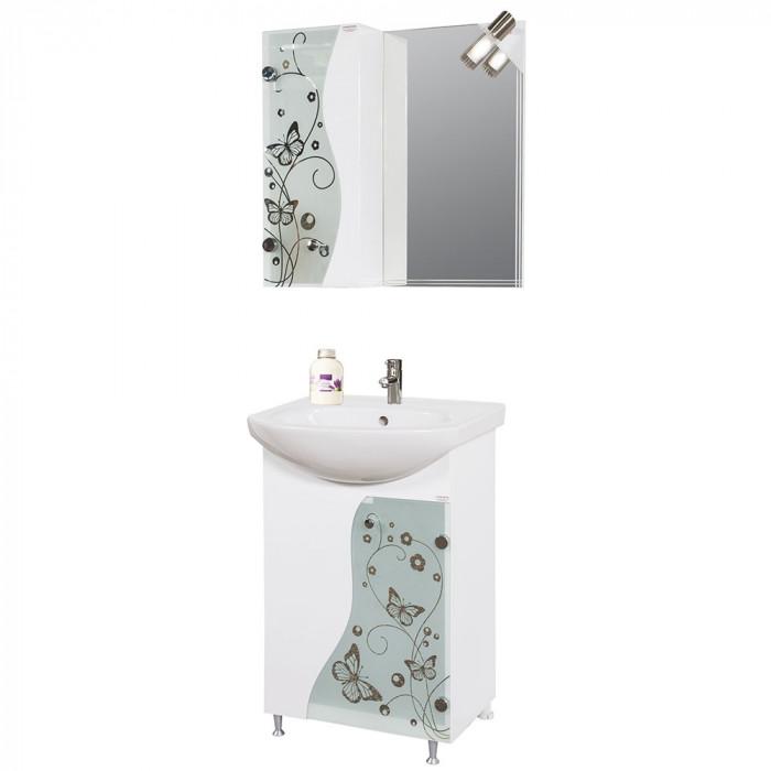Горен PVC шкаф за баня с огледало Макена Елит
