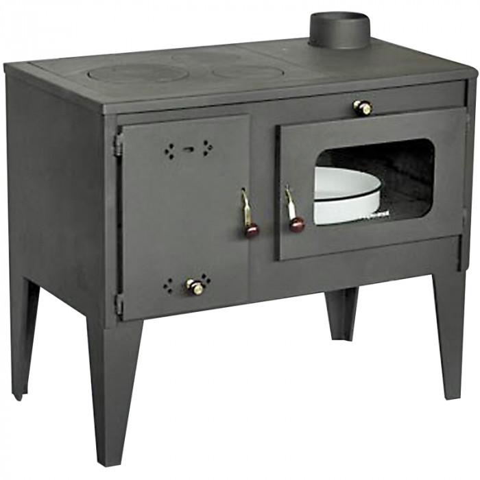 Готварска печка Тангра със стъкло 7.5 kW