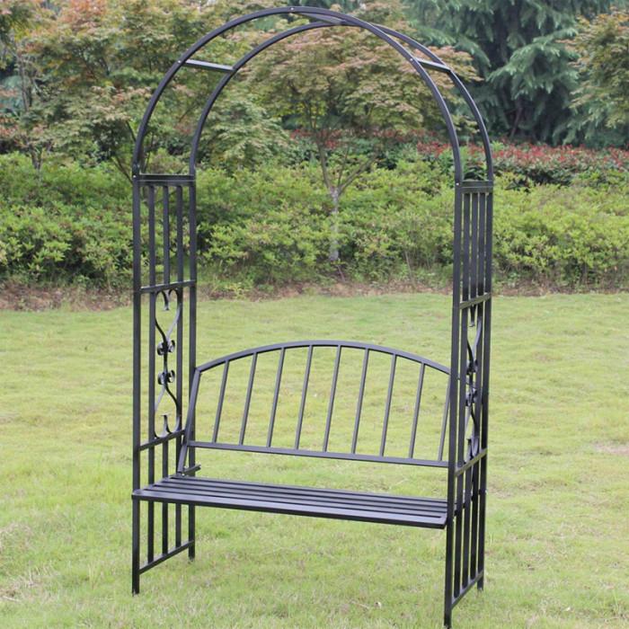 Градинска арка с пейка