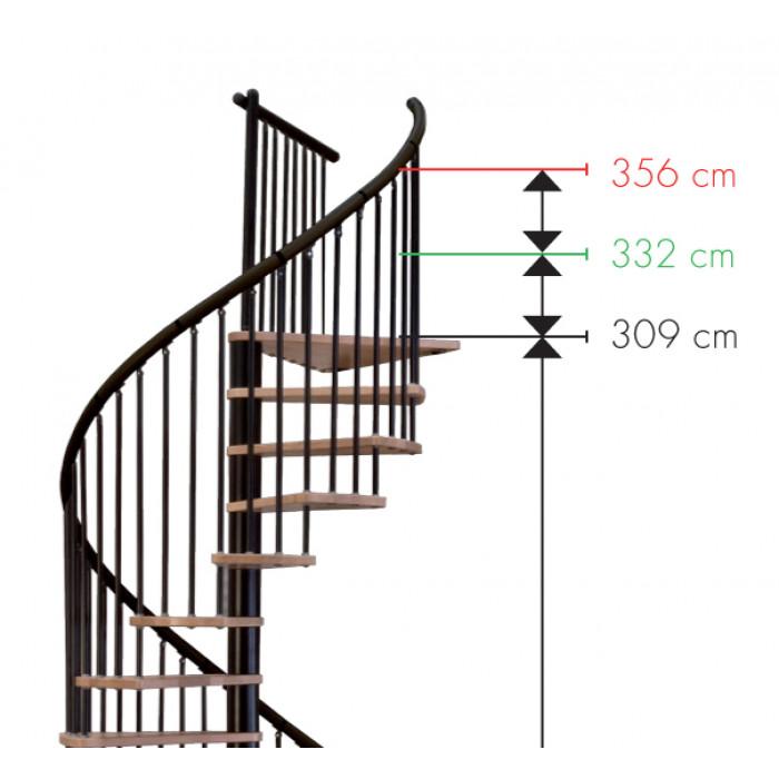 Интериорна вита стълба Dekor Black 120/309см