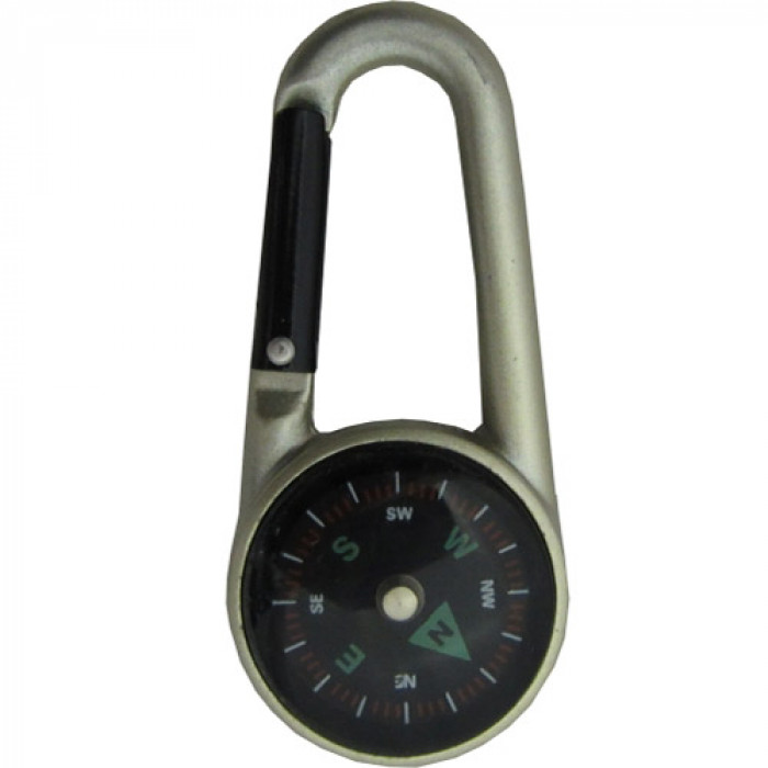 Карабинер с компас и термометър