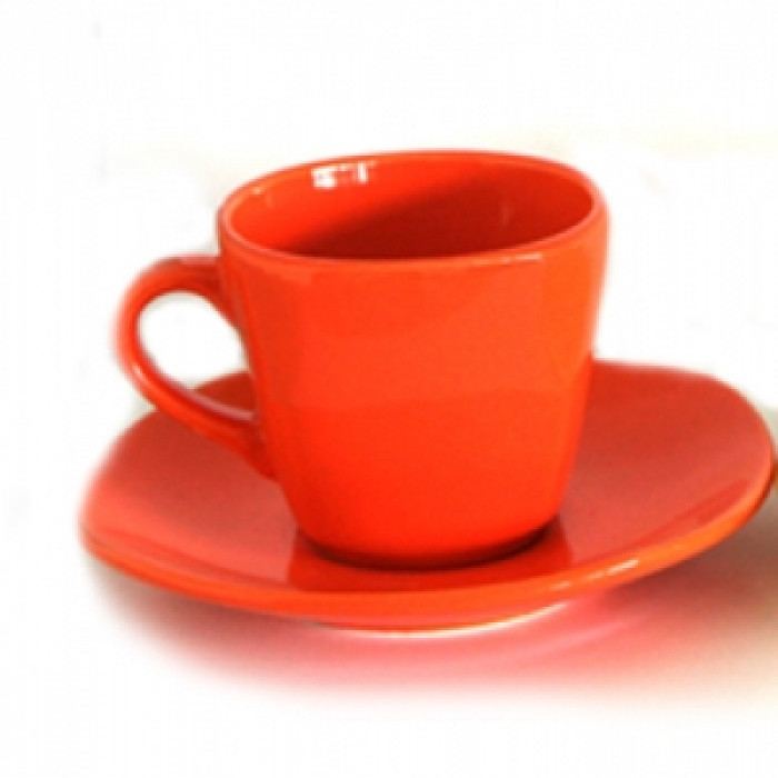 Керамичен чаен сервиз  6бр. Оранжево
