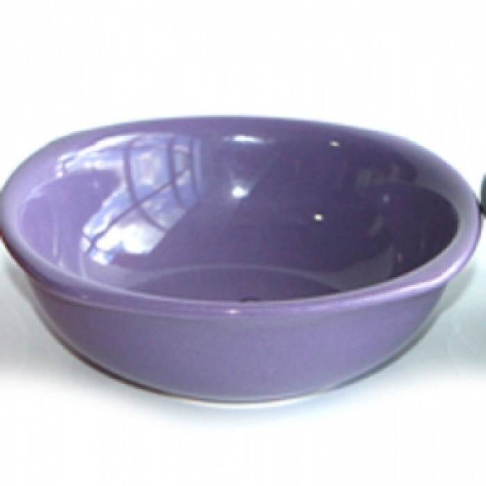 Керамична квадратна купа 10см лилава