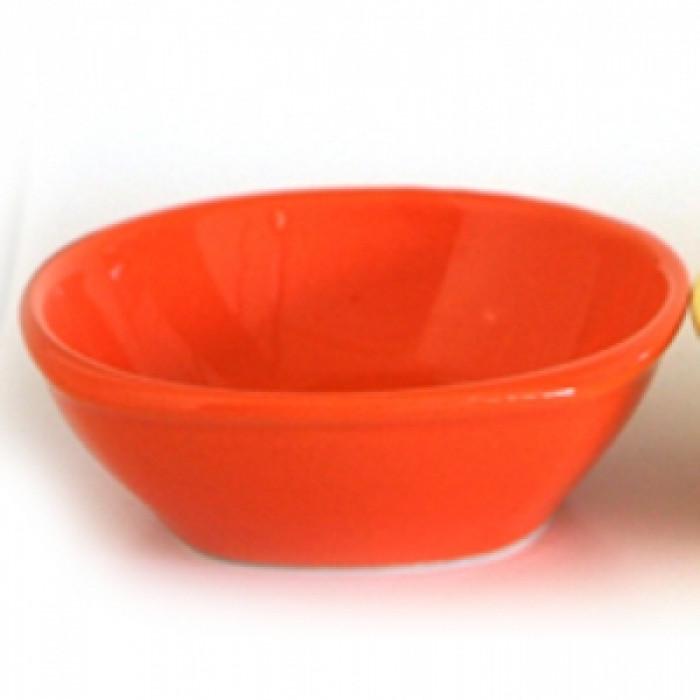 Керамична квадратна купа 10см оранжево