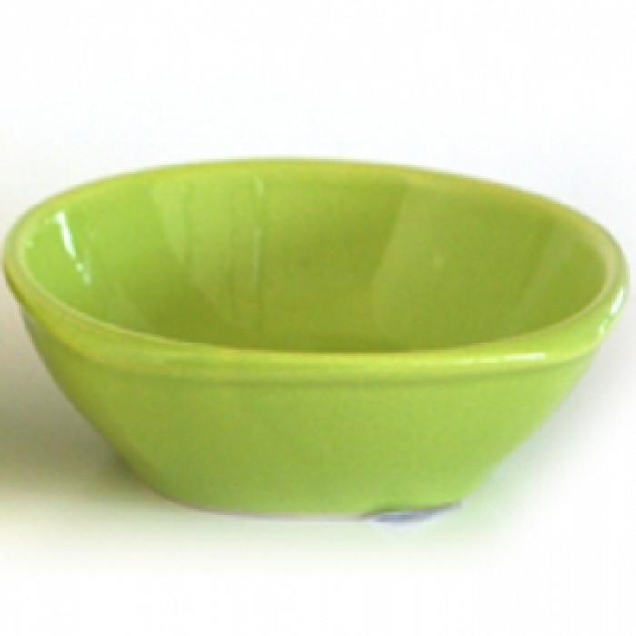 Керамична квадратна купа 10см зелено
