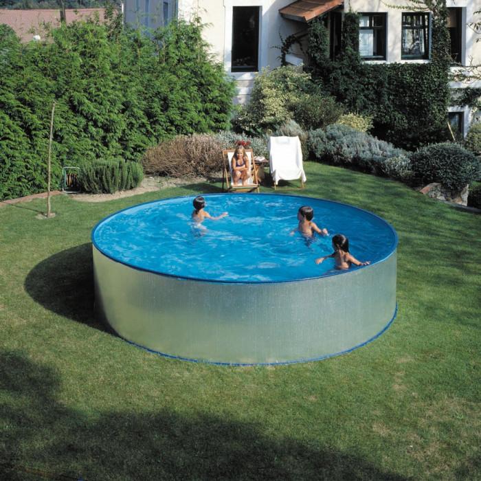 Сглобяем метален басейн с филтърна система, кръг 450х90см