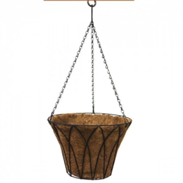 Кокосова саксия висяща кошница 30см