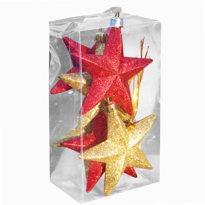 Коледна декорация звезди 6 броя