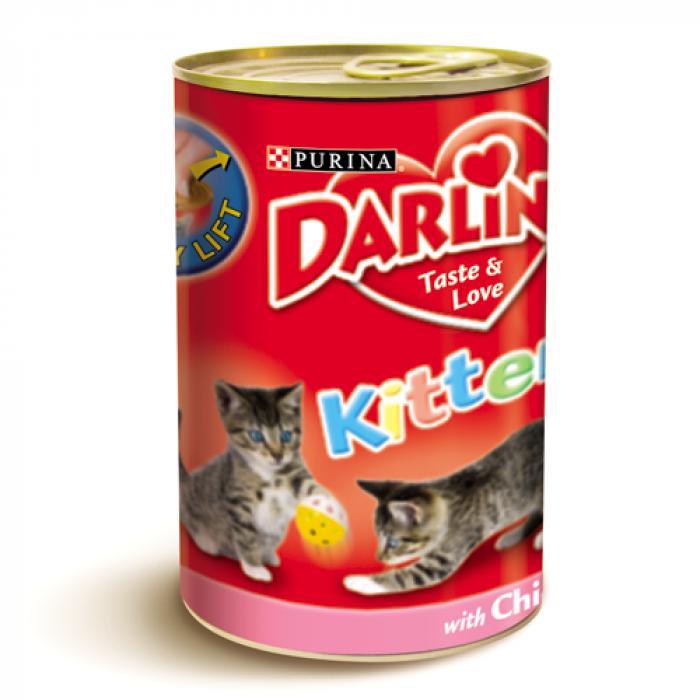 Консерва за котенца DARLING KITTEN с пиле 400 гр.