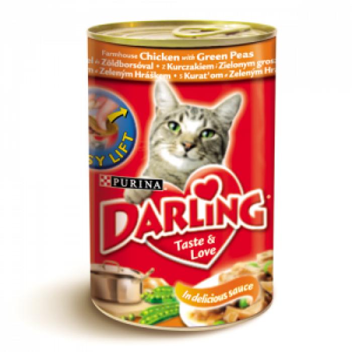 Консерва за котки DARLING с пиле и грах 400 гр.