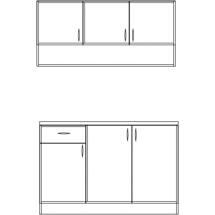 Кухня Емили с термоплот 1270 мм