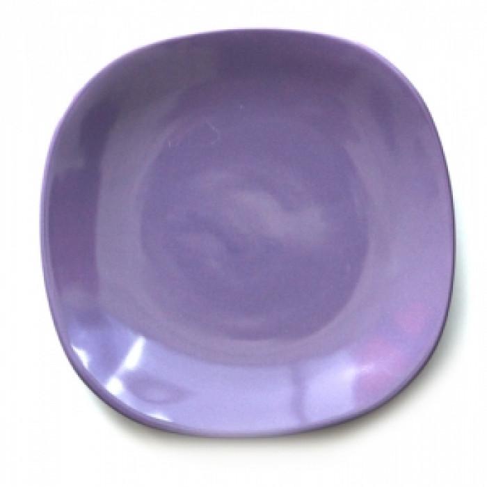 Квадратна керамична чиния 27см лилава
