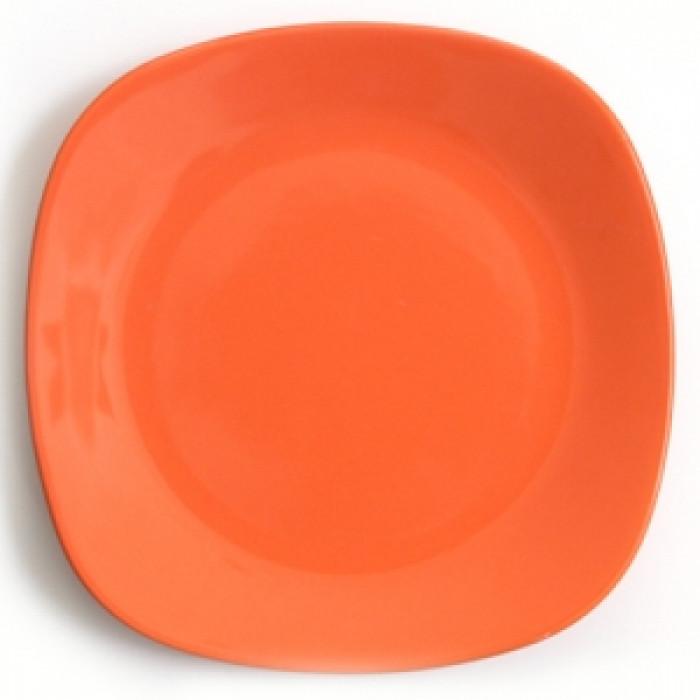 Квадратна керамична чиния 27см оранж