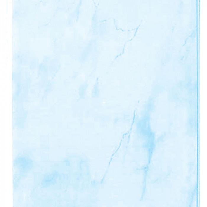 PVC Ламперия Син Мрамор 0.25x2.6 м / 7 мм