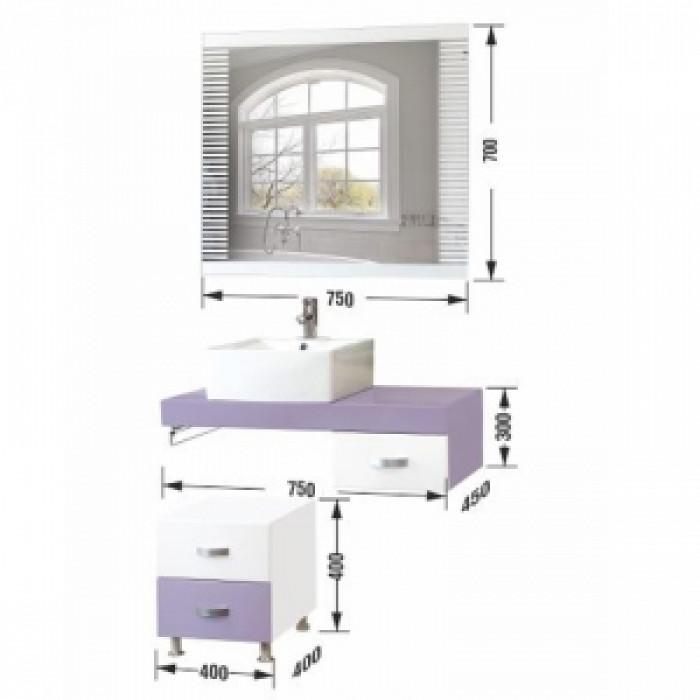Мебел за баня конзолен комплект  Анабела