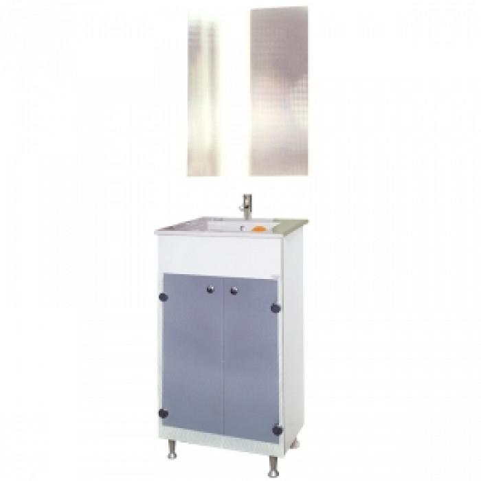 Мебел за баня Лъки ПВЦ комплект с огледало
