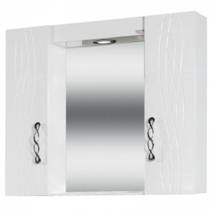 Мебел за баня с ЛЕД осветление и огледало Катрина