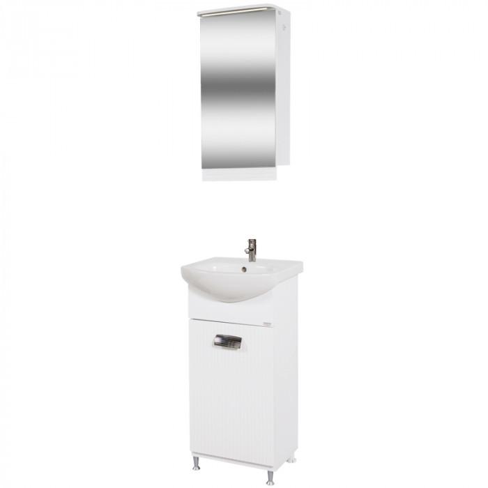 Долен шкаф за баня с мивка Лео