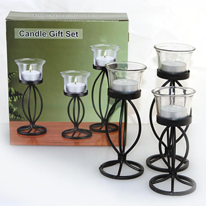 Метални свещници - стълкеници  к-кт 3 броя