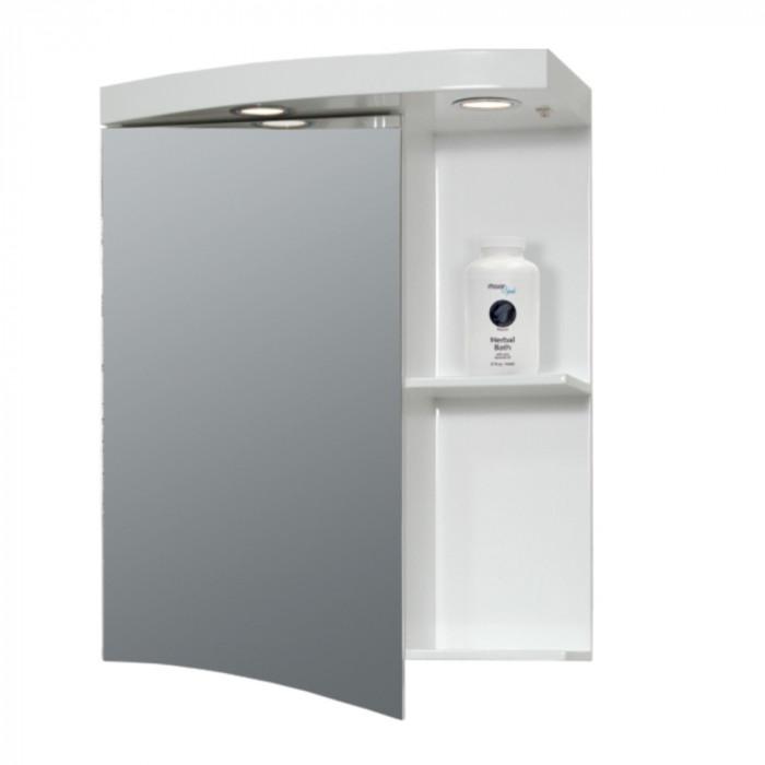Горен PVC шкаф за баня с огледало Макена Моли 50х65х15см