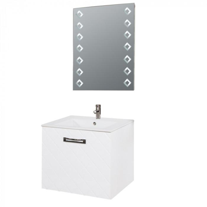 Шкаф за баня с мивка Пепе, конзолен