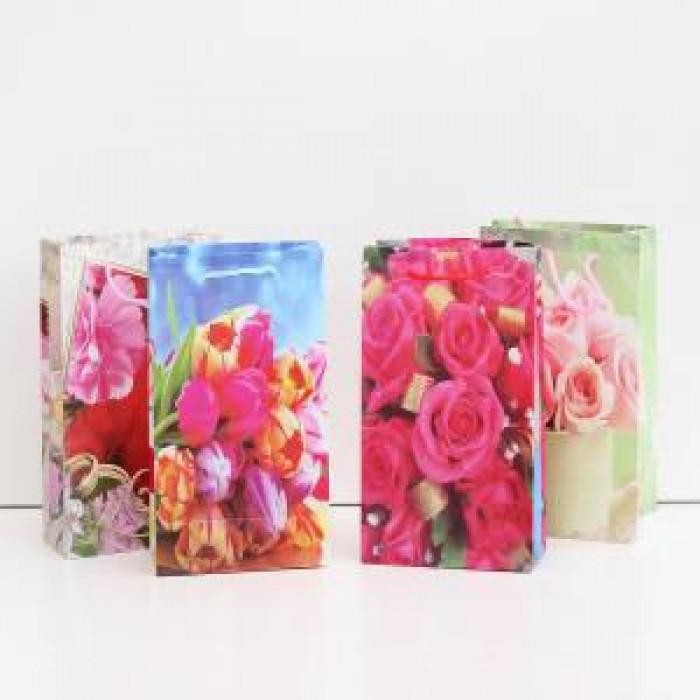 Плик за подаръци цветя 17х12х5С2-838